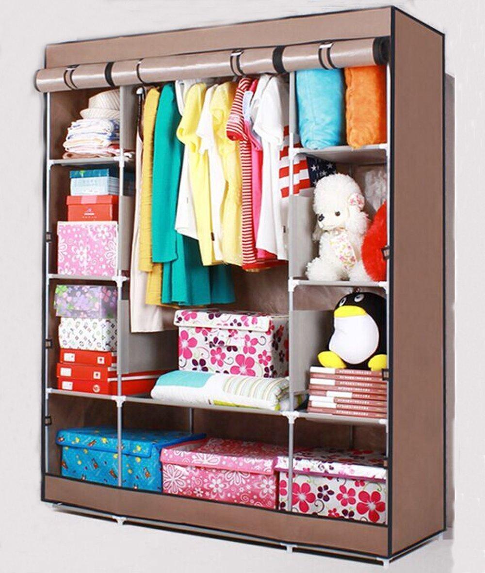 Get Quotations · Lifeasy   Portable Detachable Clothes Closet Wardrobe U0026  Shoe Rack Non Woven Fabric Storage Organizer