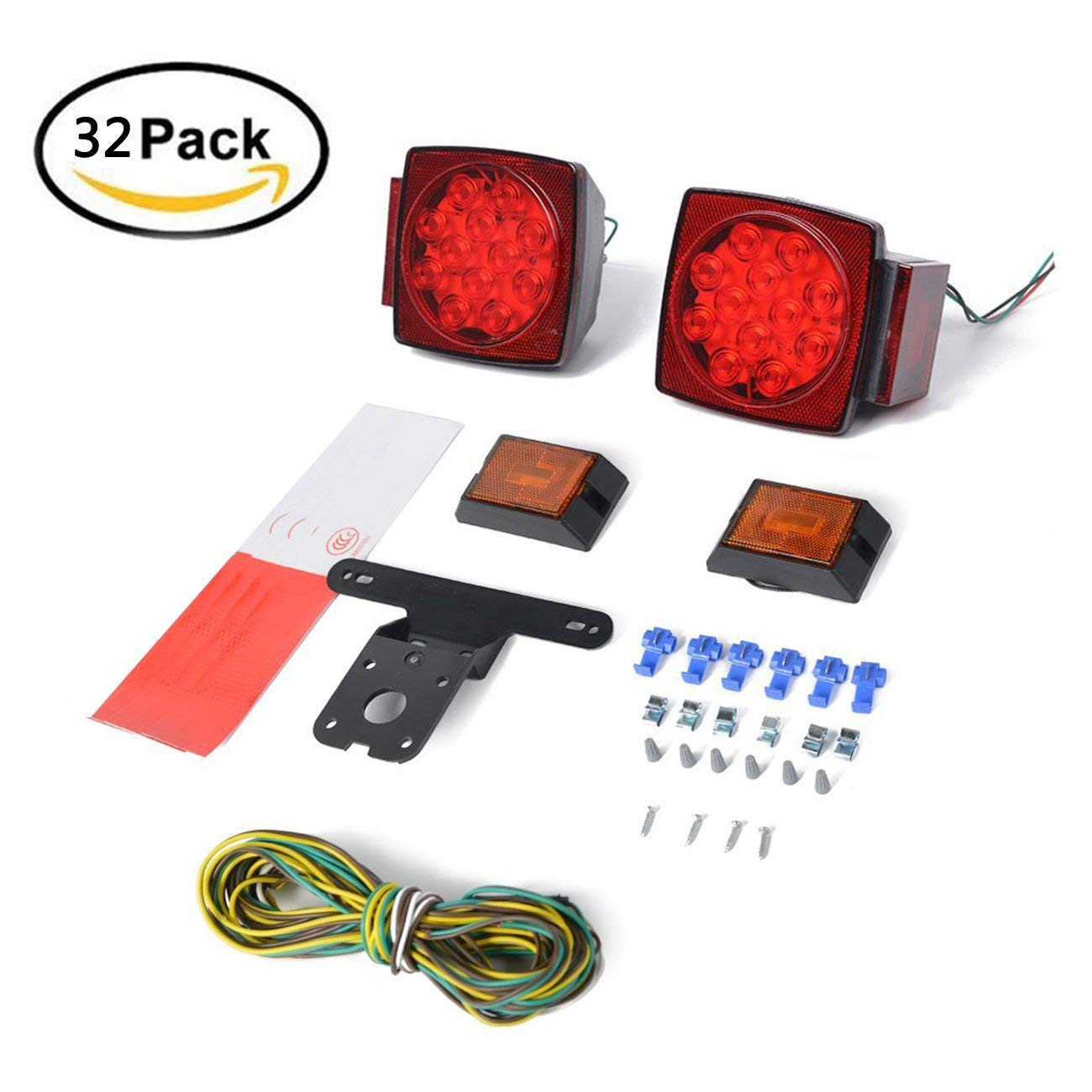 Cheap Trailer Light Covers Find Deals On Line Wiring Lights Ireland Get Quotations 12v Kit Taillight With Led Wire Reflective Strip For Rv