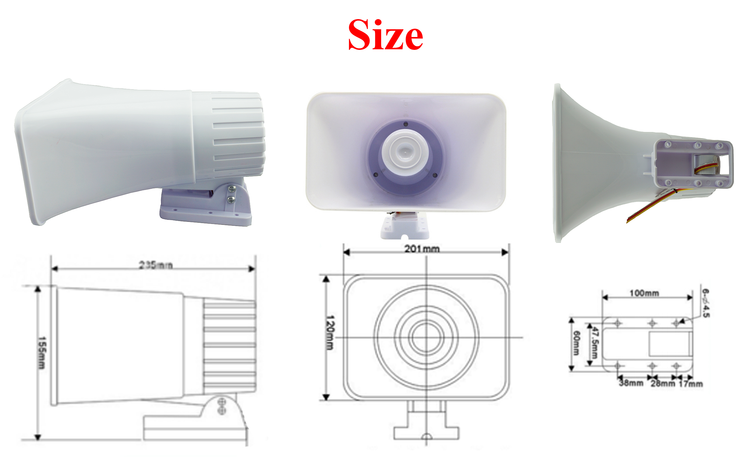 Outdoor siren 120 dB for home alarm system