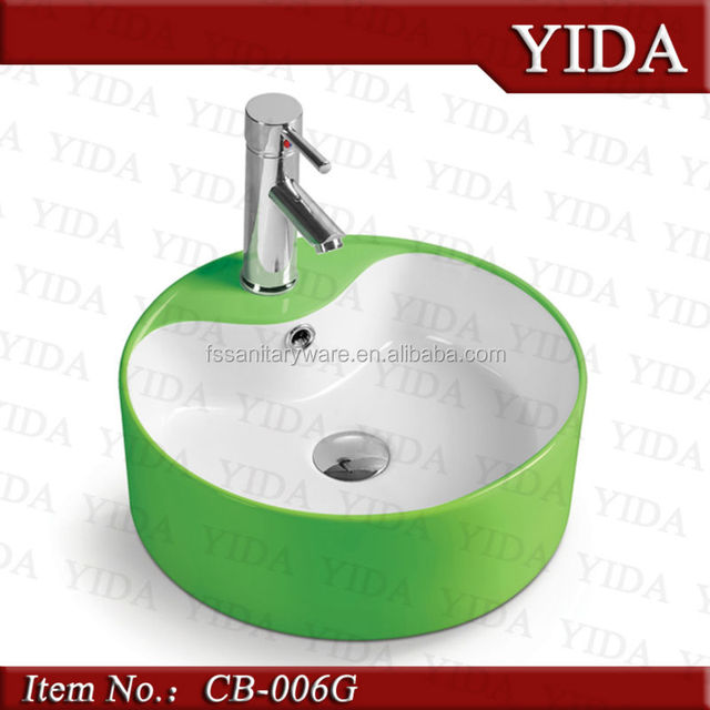 Awesome China Manufacturer Sink_green Color Vessel Sink_ceramic Colored  Basin_granite Colorful Sink