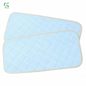 hypoallergenic waterproof incontinence pad custom women elderly washable bamboo cotton mattress pad protector hospital diapers