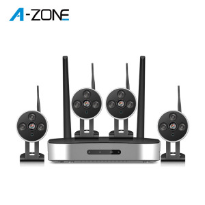 Plug & play 2MP 4CH wireless security camera systems mini wifi nvr kit