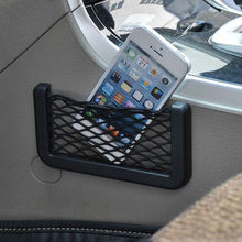 Car Storage Net String Phone Sunglass Holder Card Ticket Pocket Adhensive