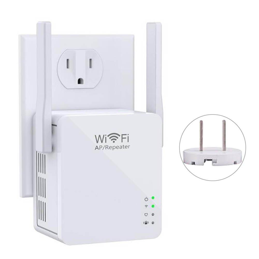 Wi-Fi Range Extender,ZIKO 300Mbps Wi-Fi Amplifier Wireless Wi-Fi Repeater Range Extender Access Point Mode /Repeater Mode Wi-Fi Repeater Wi-Fi Router with Micro USB Port Double External Antennas