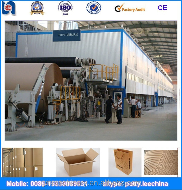 waste OCC paper recycle to make 3600mm corrugated paper making machinery, 150ton/day