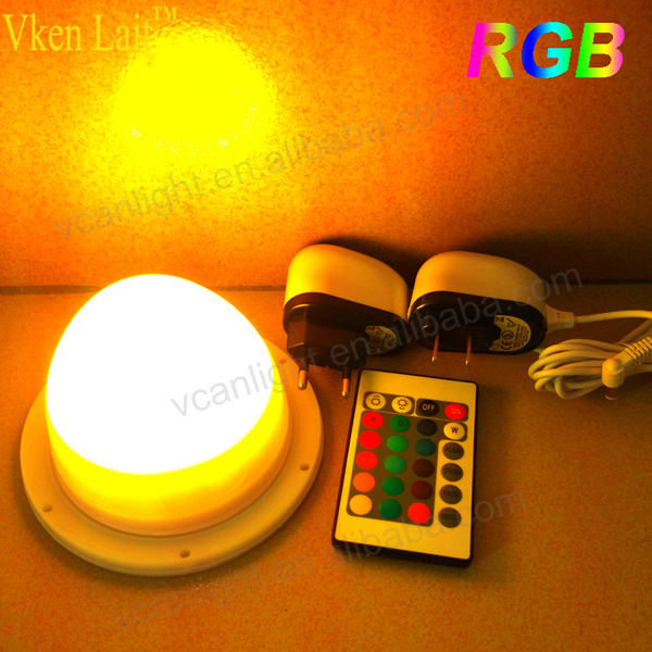 RGBW 16 colors round shape LED Vase Base Light