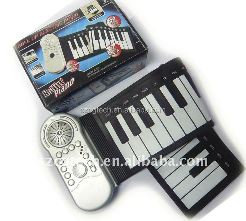 promotional 37 keys electronic separable folding silicone piano.