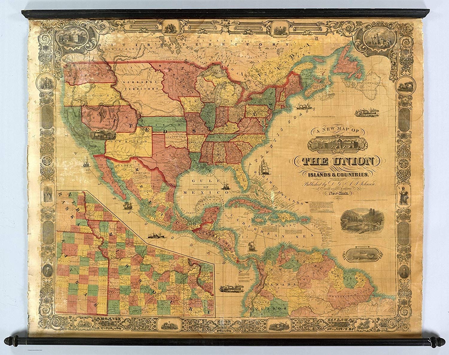 Cheap North South Central America Map, find North South ...
