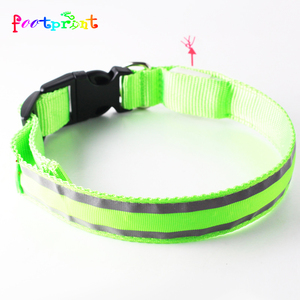 heated LED personalized nylon dog collar necklace