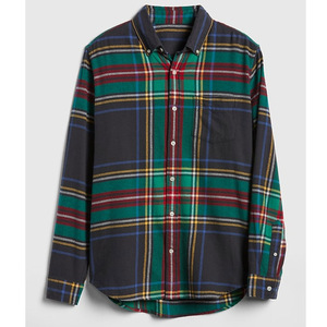 Mens Custom Fitted Checked Plaid Soft Black Flannel Pocket Shirt
