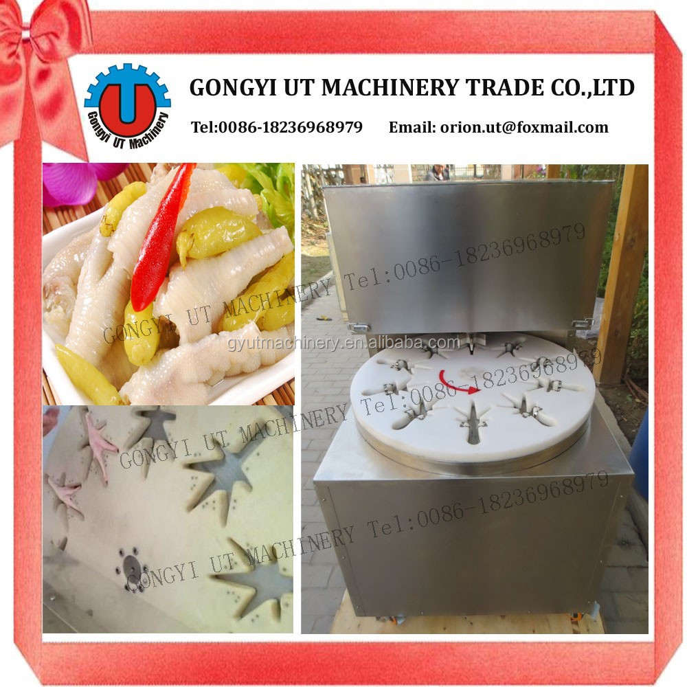 Semi-automatic Type Chicken Paw Cutting Machine/Chicken Feet Cutting Machine (whatsapp:0086-18236968979)