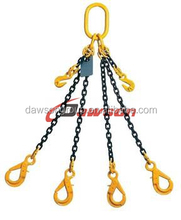 quadruple leg four legs chain lifting slings with master link hook