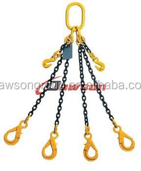 Doble pierna cuatro piernas cadena eslingas con el maestro enlace gancho f1fb92901369
