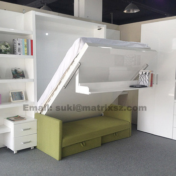 Solid Murphy Bed In Transformable FurnitureHidden Muphy BedWall