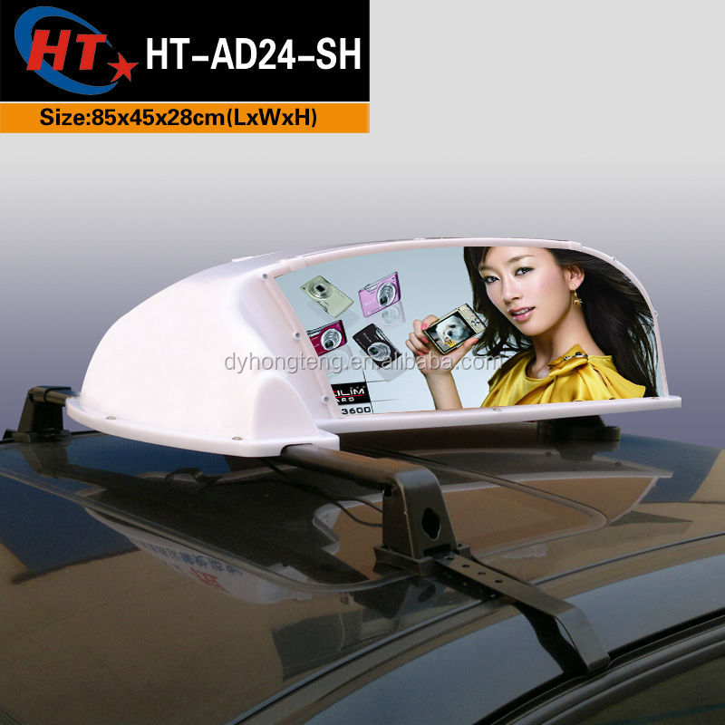 China popular taxi top light advertising ideas