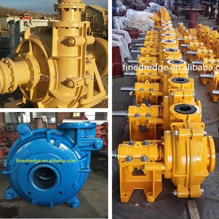 horizontal high chrome cast single stage slurry pump for mining goal