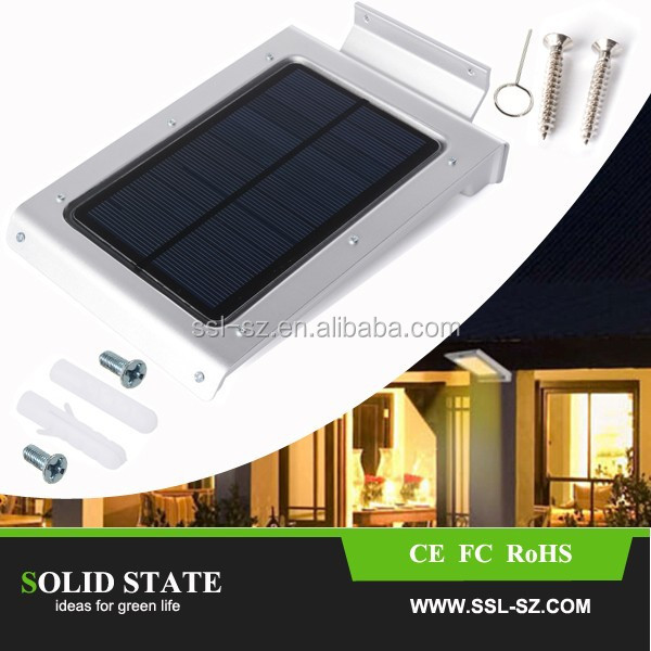 2015 top selling ip65 protection solar led powered garden ilumination product with pir motion sensor