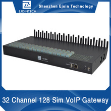 3G wcdma2100MHz 32 channel 128 sim card voip gateway for NTT DOCOMO and SOFTBANK in Japan