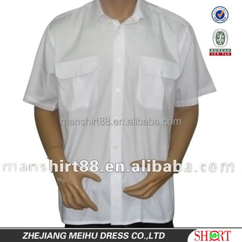 a03f3bf7d3070 homens de manga curta branca guarda de segurança da linha aérea uniforme  piloto camisas