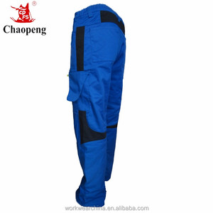 CP-INPANT Knee pad men blue wear work trousers with multi-pockets