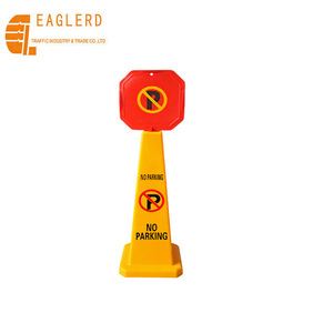Traffic safety sign board cone