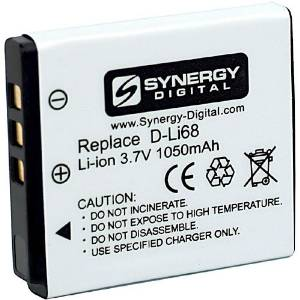SDDLi68 Lithium-Ion Battery - Rechargeable Ultra High Capacity (3.7V 1050 mAh) - Replacement for Pentax D-Li68, Fuji NP-50 & Kodak KLIC-7004 Batterries