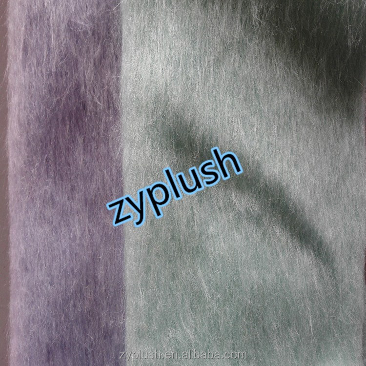 FY130854 Brushed Wool Mohair Knitting Fabric for Women's Coat
