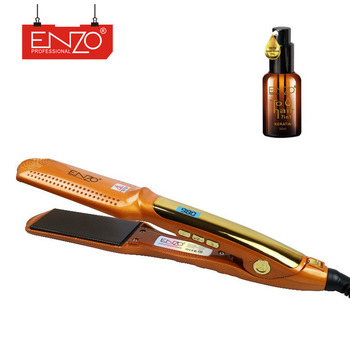 ENZO 2019 Professional salon LCD flat iron wet dry fast heat 3D floating plate ceramic hair straightener price