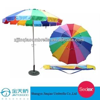 bd006845a24f Rainbow beach umbrella/beach parasol