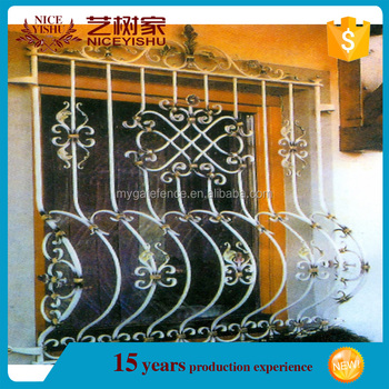 Wrought Iron Outside Window Grills Design 3