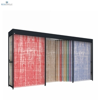 Commercial Hanging Rug Display Rack Carpet Display Stand system