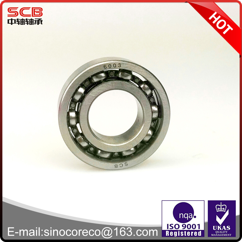Chrome steel GCR15 deep groove ball bearing 6003 17*35*10mm