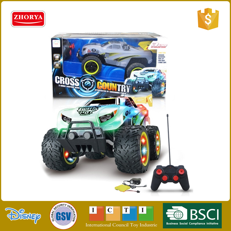 RC car 4 WD new tpye high speed radio control toy car 4 wheel drive toy car with lights