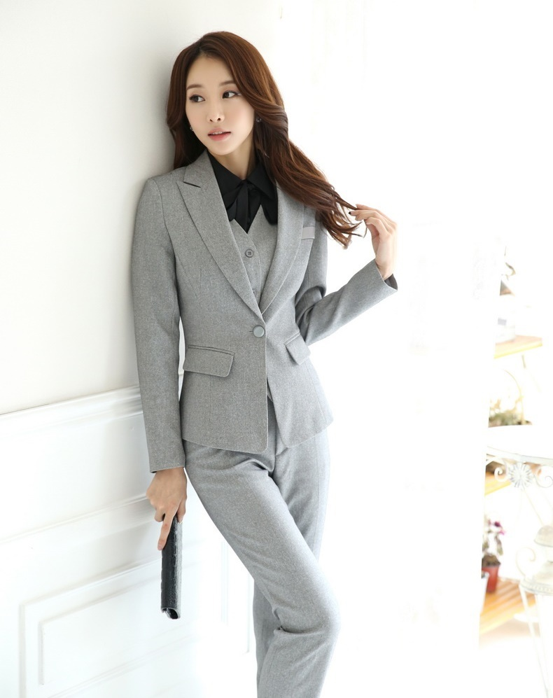 2b8628d33fc7 Get Quotations · Autumn and Winter Formal Office Uniform Designs Women  Business Suits with Pant + Blazer +Waistcoat