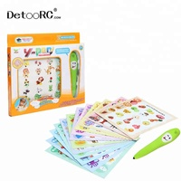 Detoo Children toys reading pen touching and learning English cards smart talking pen book