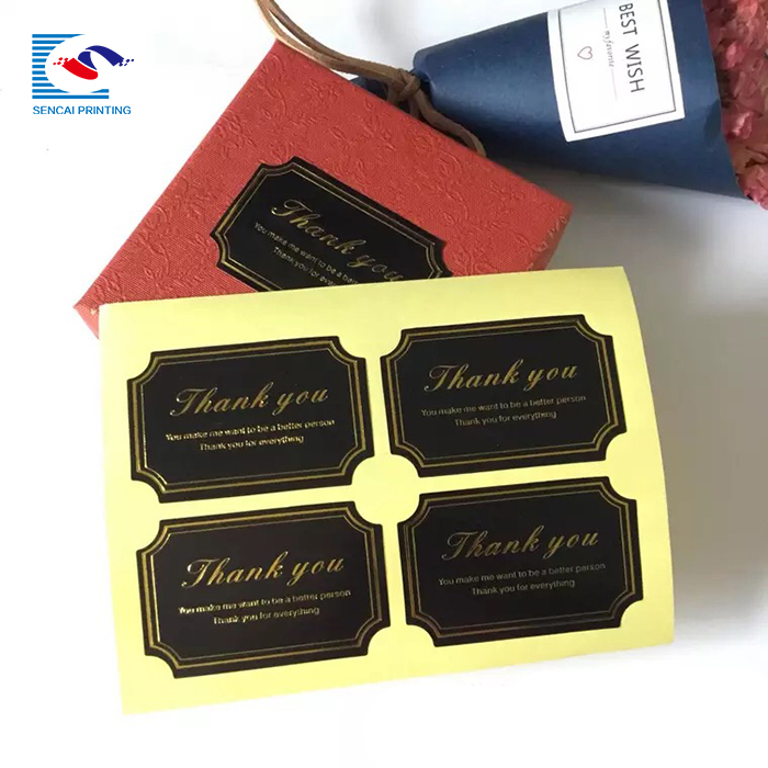 SENCAI wholesale custom design  paper round shape printing sticker labels