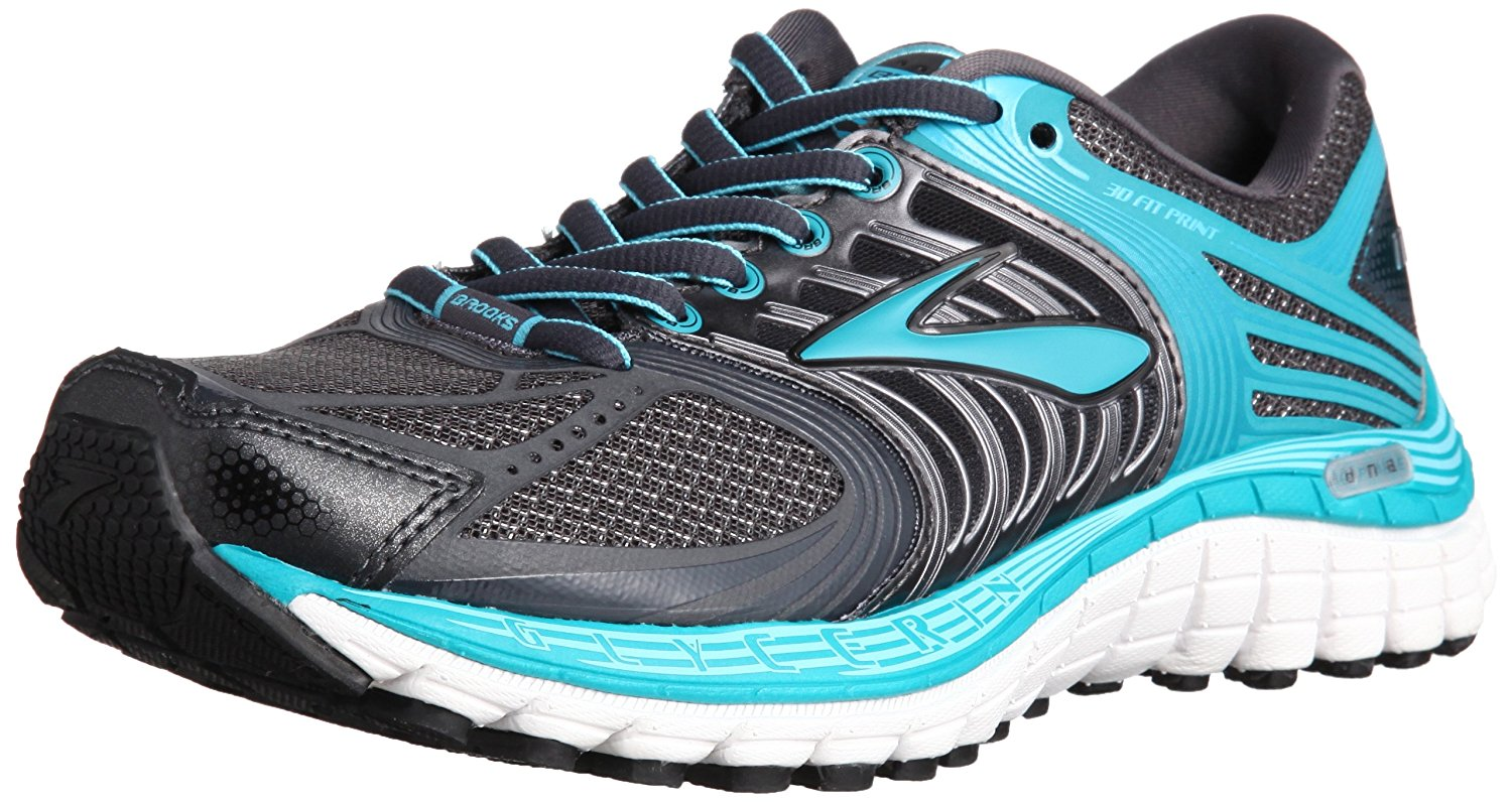 2d342c12255 Get Quotations · Brooks Womens Glycerin 11 Running Shoe  Anthracite Caribbean Bluefish