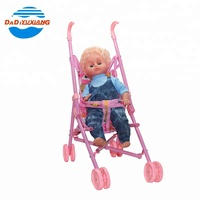 Plastic kids pretend play baby doll stroller with ic voice