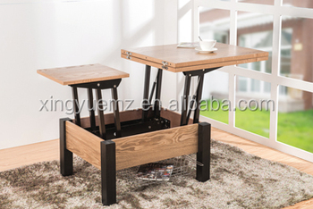 Modern Coffee Table Double Lift Top Coffee Table Living Room