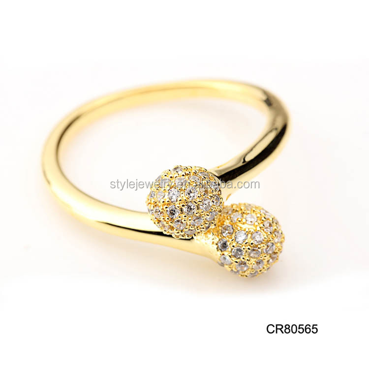Cr Wholesale Fashion New Design Women Finger Rings Dubai Gold