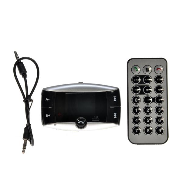 Беспроводной 12 В 24 В 1.5 дюймов LCD Bluetooth автомобильный комплект громкой связи MP3 плеер FM передатчик с пультом
