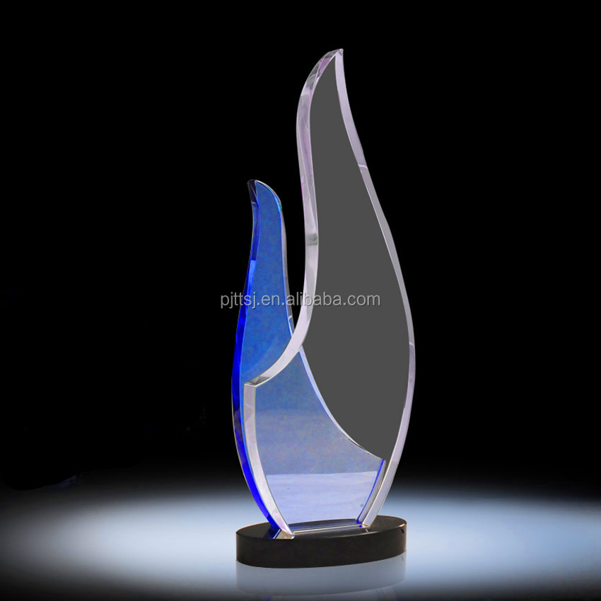 Sell like hot cakes blue crystal trophy custom crafts