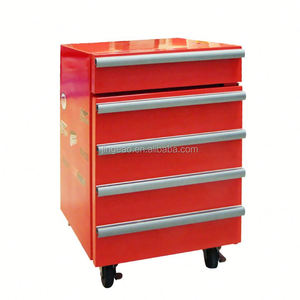 JGA Retro Style 1 Drawer 50L Mini Toolbox Refrigerator , Safe Fridge With 4 Wheels Chest Freezer With Lock And Key
