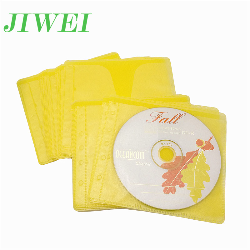 100 Pack Nonwovens Double Sided Clear Plastic CD and DVD Sleeves