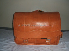 best quality Genuine cow brown leather briefcase leather bag