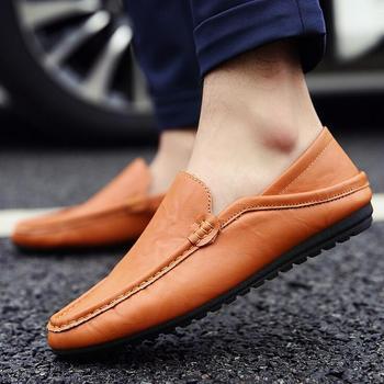 Sh10226a 2018 New Model Slip On Shoes Men Leather Upper Business