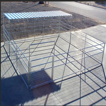 "24'W x 24'D 1-5/8"" 4 rail mare & foal horse corral with  8' X24''Trussed Shelter"