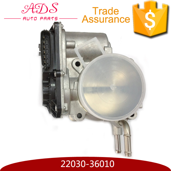 Good quality aluminium throttle body assembly with low price for toyota highlander/camry OEM:22030-36010