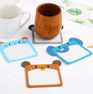 Promotion Gifts Cute Creative Animals Rectangle Soft PVC Coaster /Cup Mat