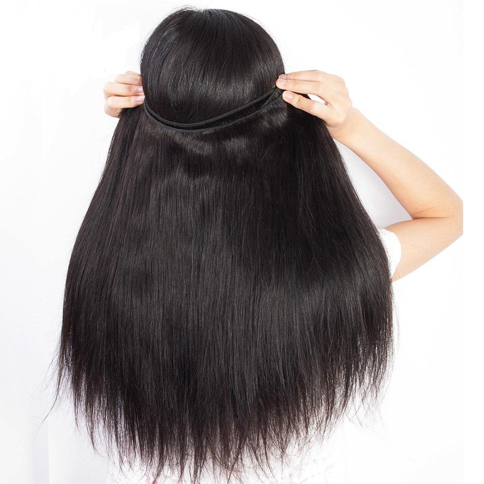 Cheap mink brazilian unprocessed virgin hair bundles cuticle aligned hair from india, Natural black